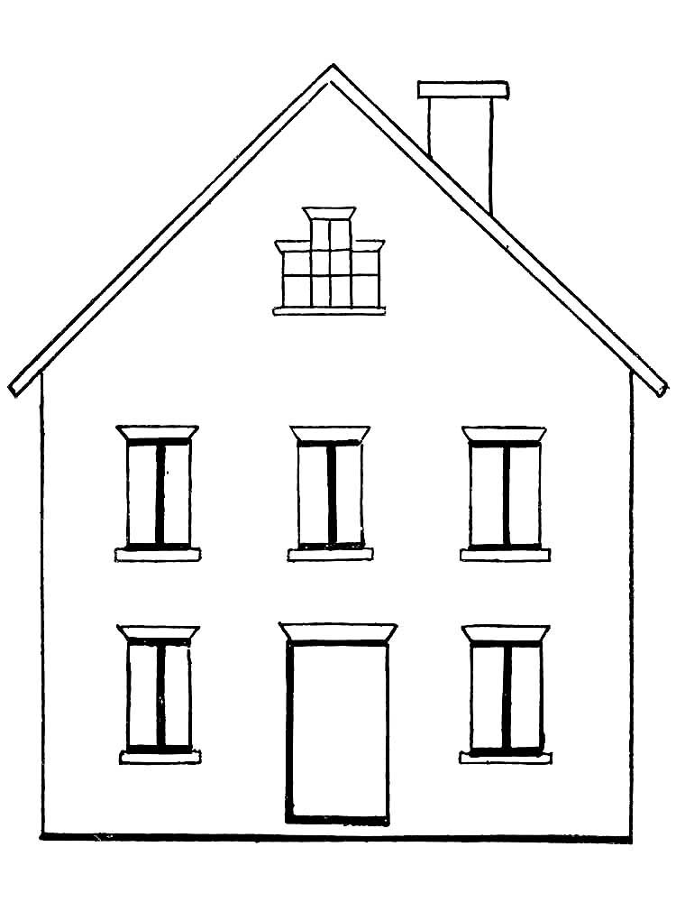 нарисовать двухэтажный дом картинки перцы