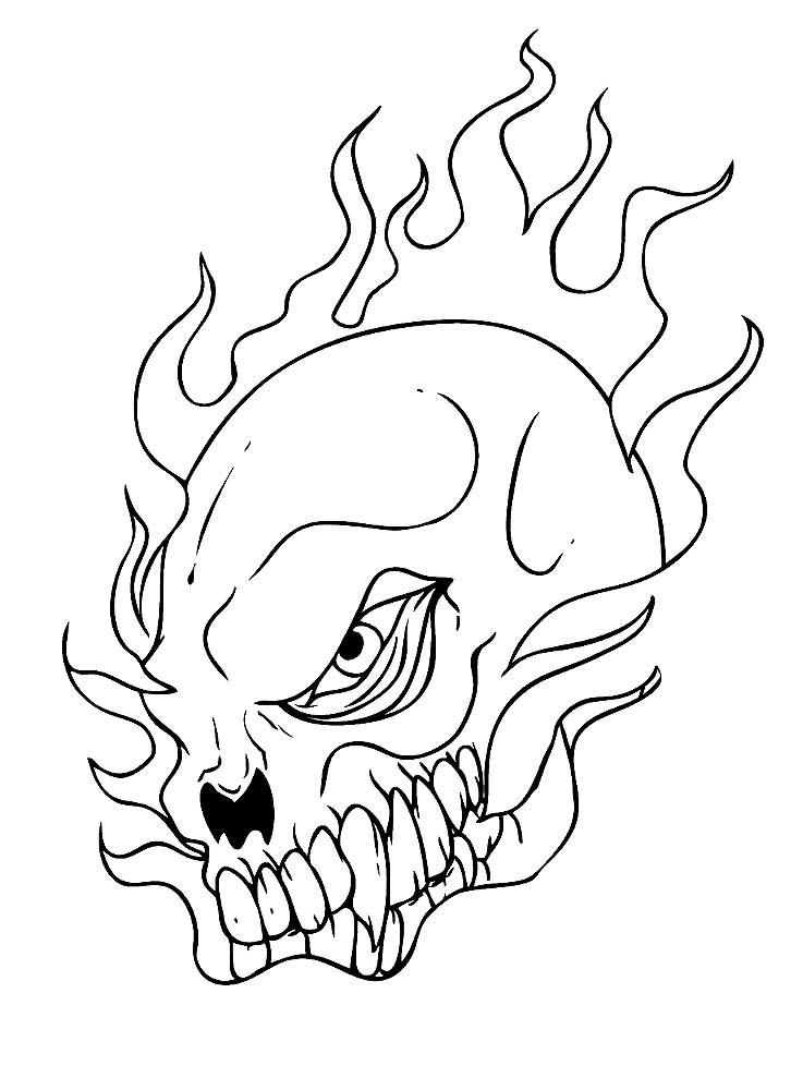 Крутые черепа рисунки карандашом