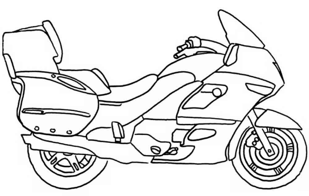 Раскраски для мальчиков мотоциклы распечатать - 5