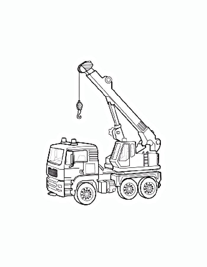Трактор кран раскраска