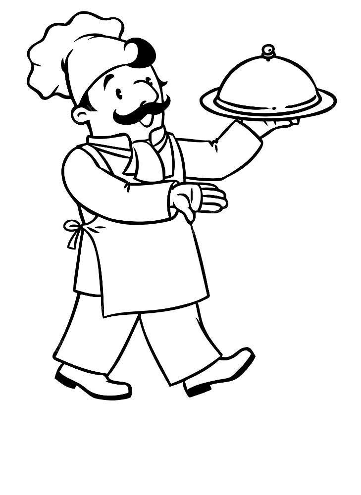Раскраски повар скачать и распечатать