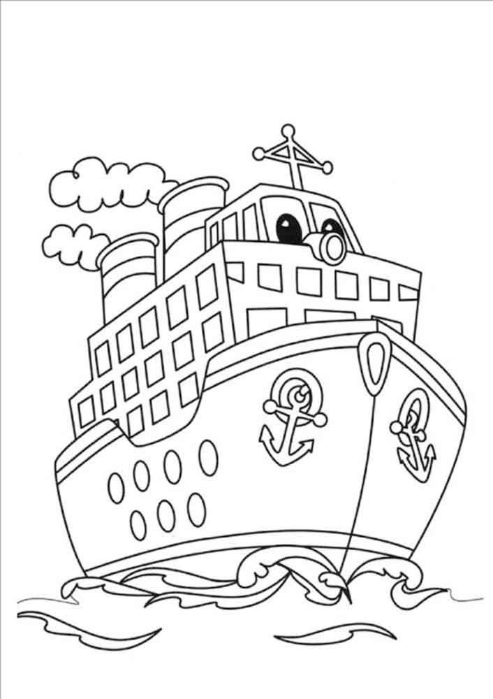 Скачать и распечатать раскраски корабль