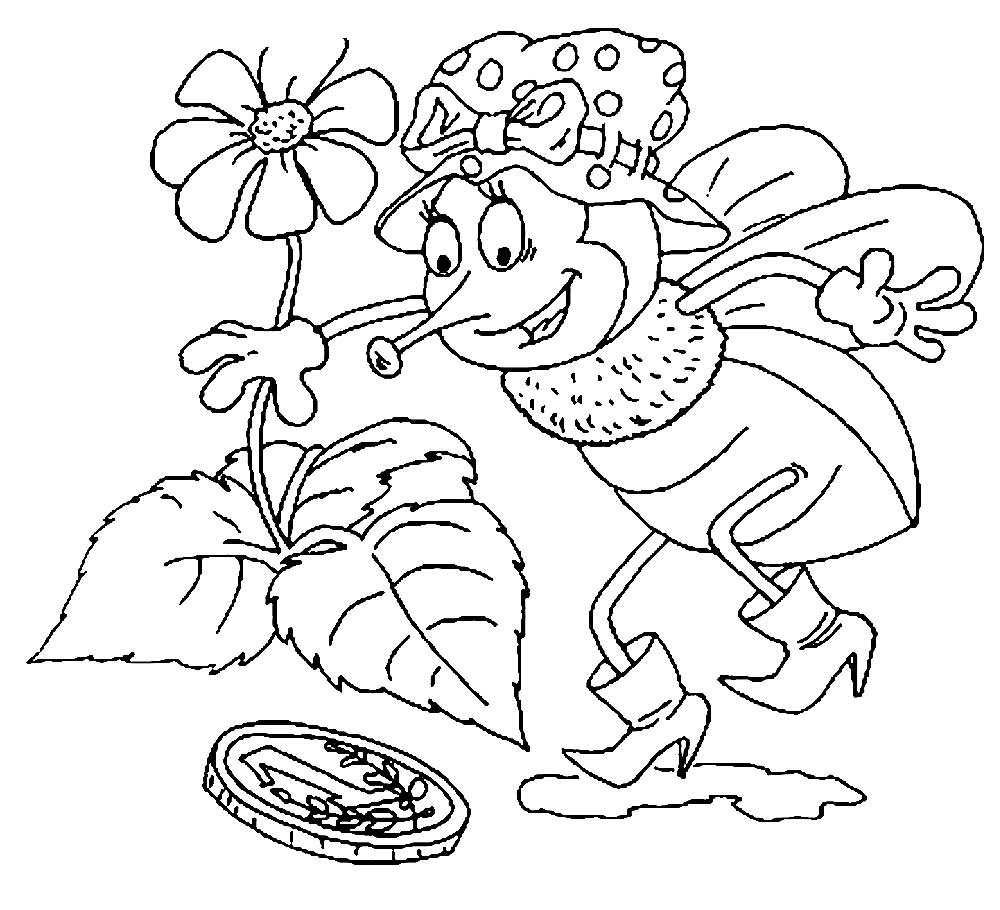 раскраска муха скачать и распечатать