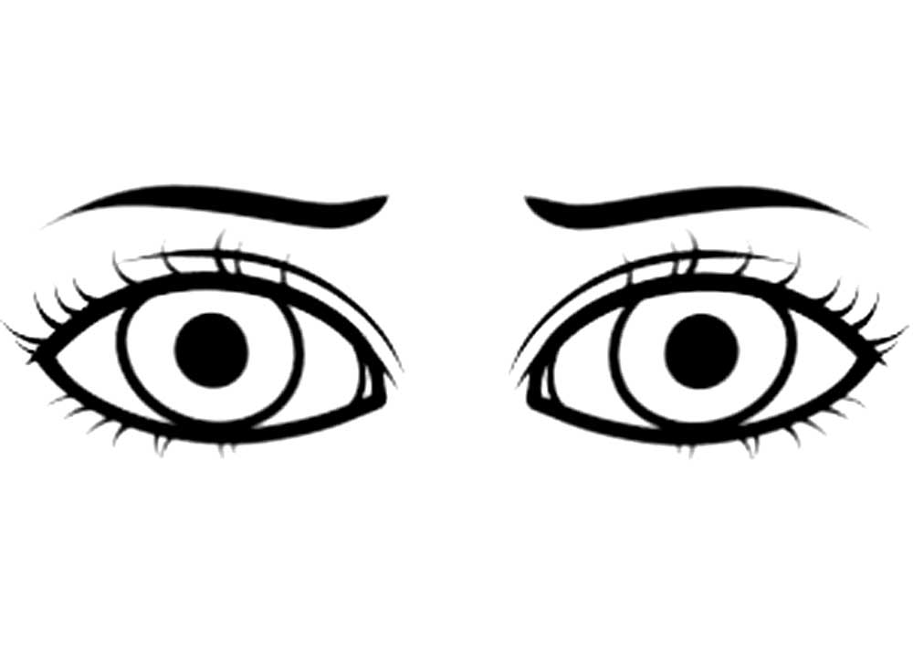 cartoon girl eyes