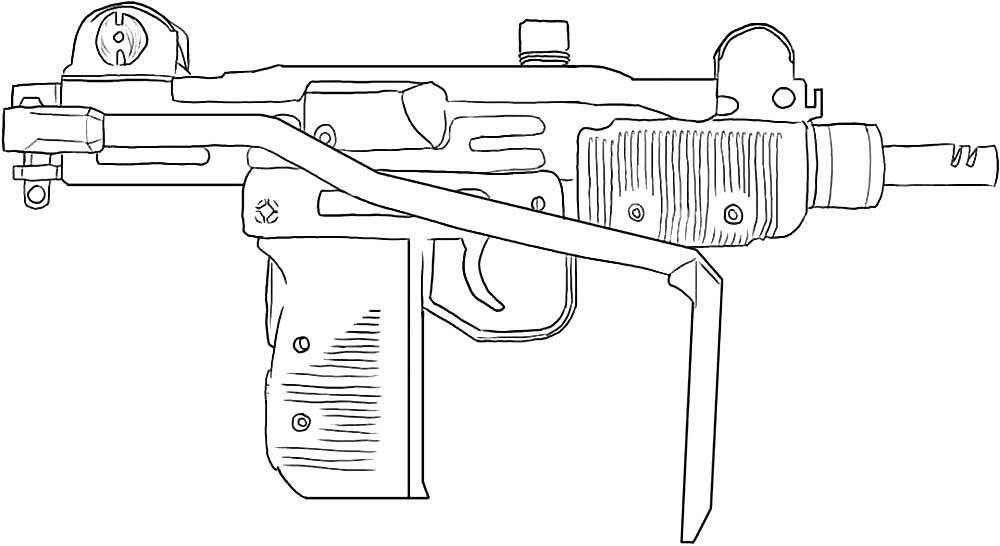 пулемет картинка для раскраски широте мурманска завершился