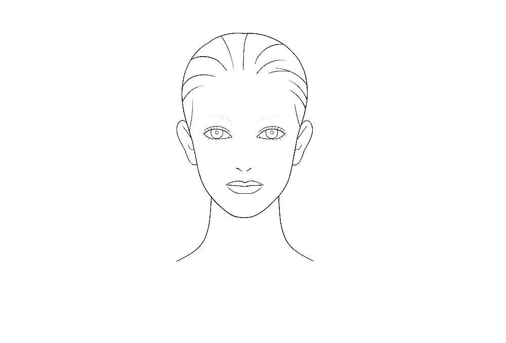 раскраска лицо человека для макияжа наличии декоративные круглые