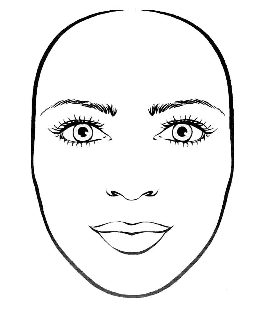 Картинки лица для макияжа