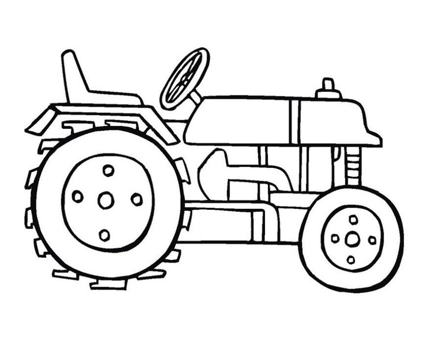 Скачать и распечатать раскраски трактор
