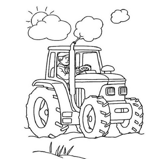 Раскраска трактора скачать