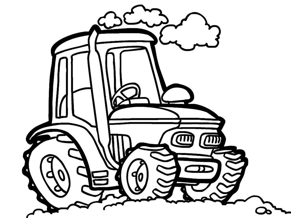 Раскраски для мальчиков трактора распечатать - 2