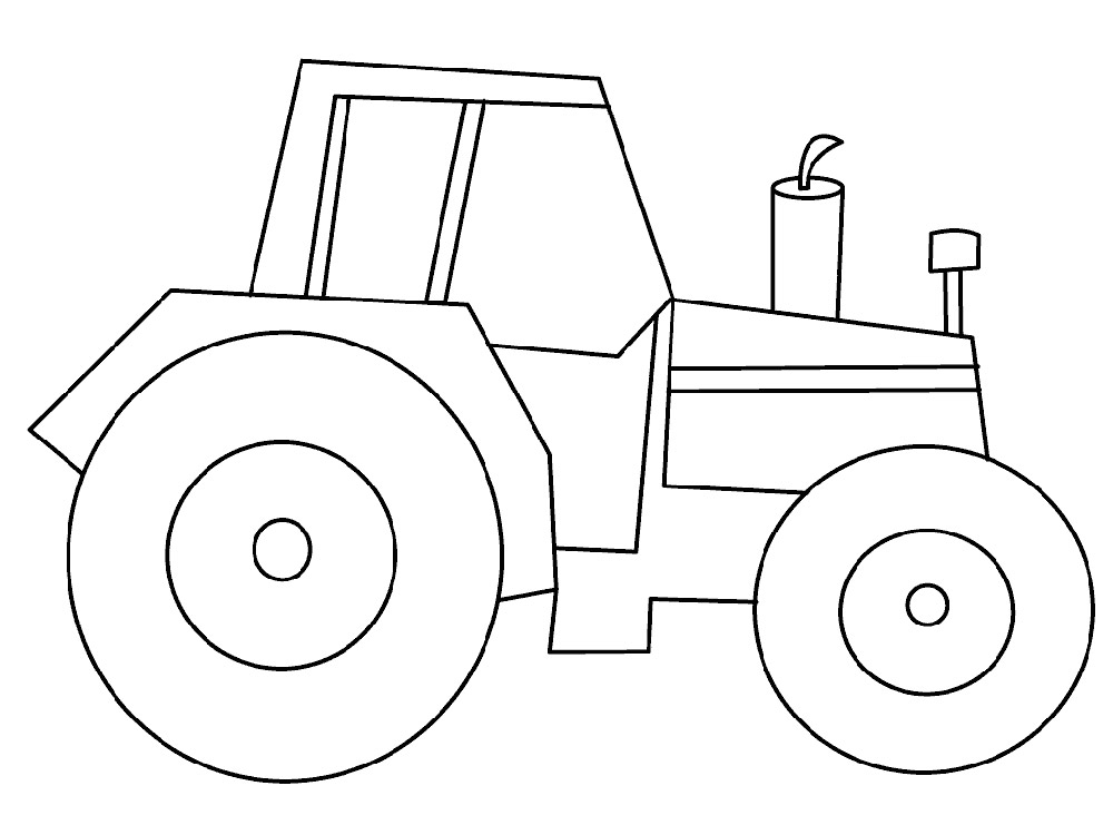 Картинки для ребенка 2 года для раскрашивания трактор
