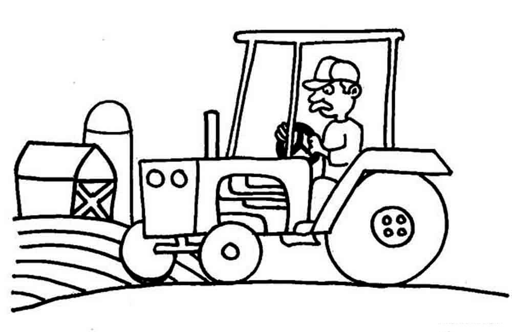 Раскраски трактора для мальчиков - 3