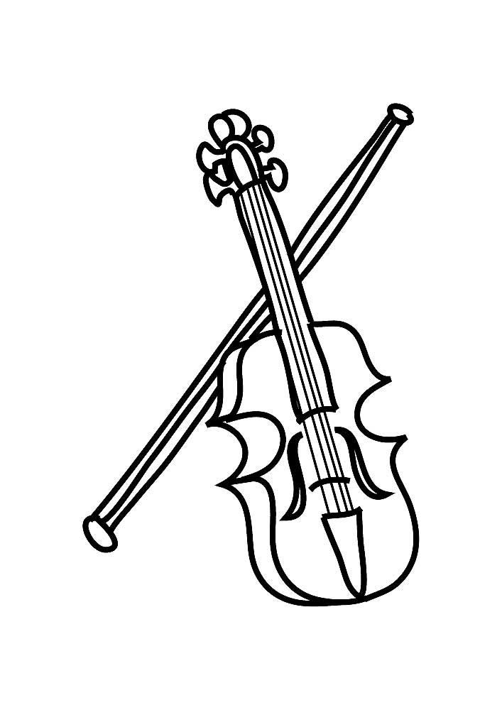 Поздравление годовщиной, музыкальные инструменты картинки для раскрашивания