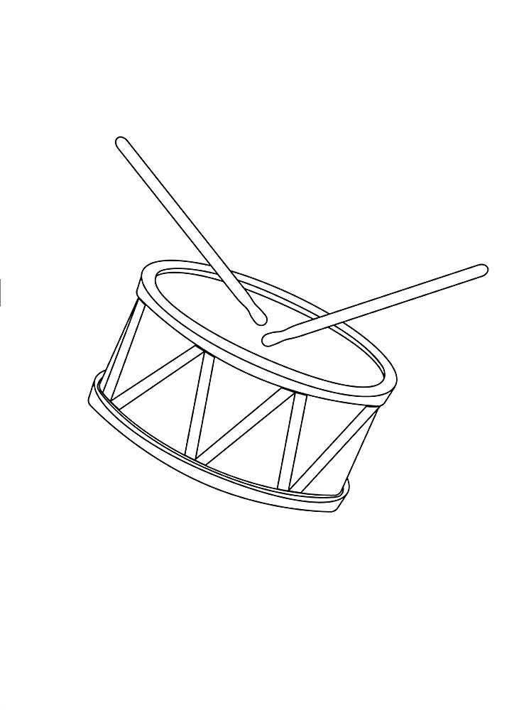 Барабан картинка нарисованная для детей