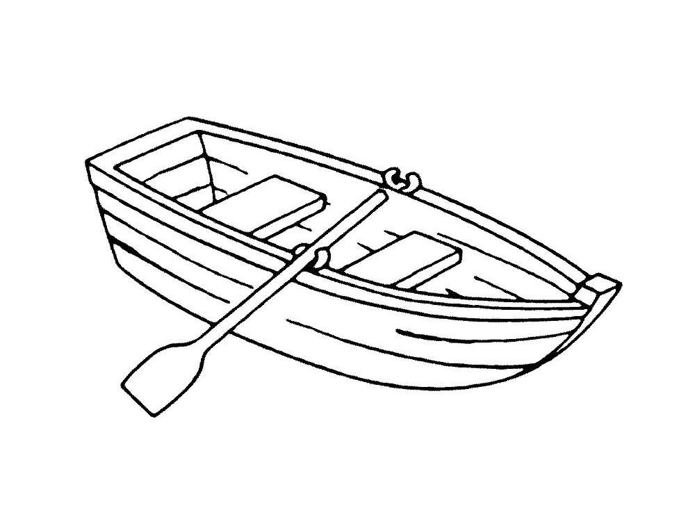 Картинки для детей нарисованные лодка
