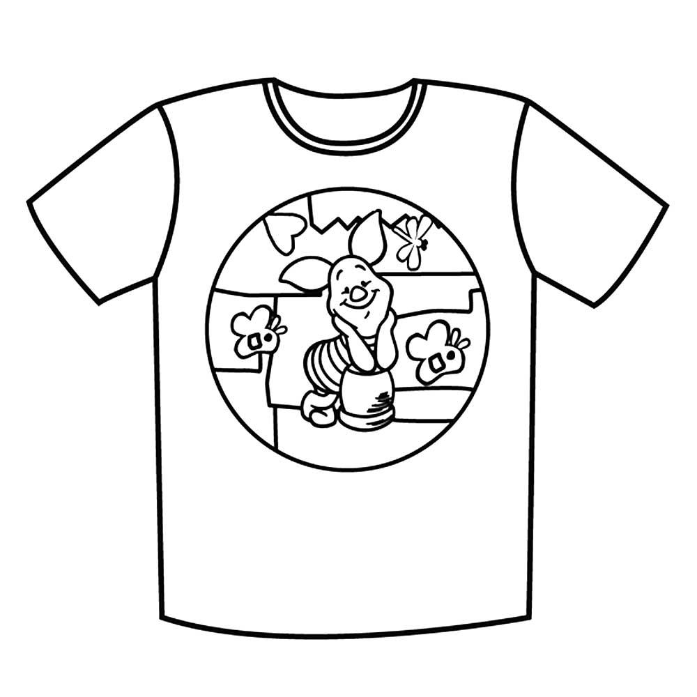 картинки футболки для раскраски самый