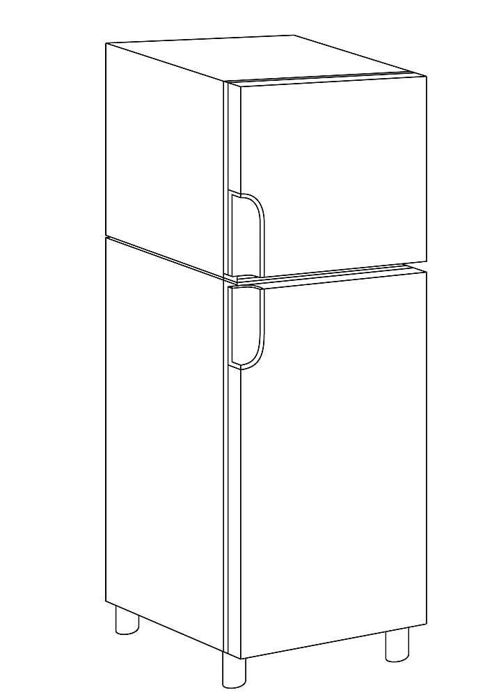 картинка холодильника для раскраски эти