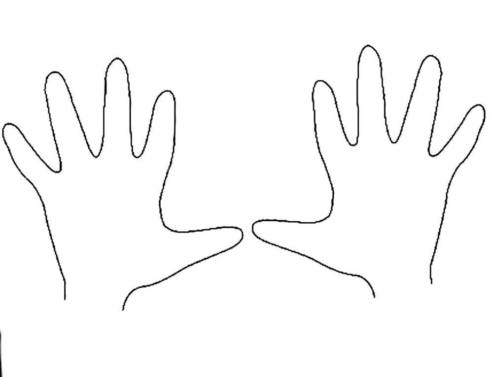 Рука картинка для раскрашивания