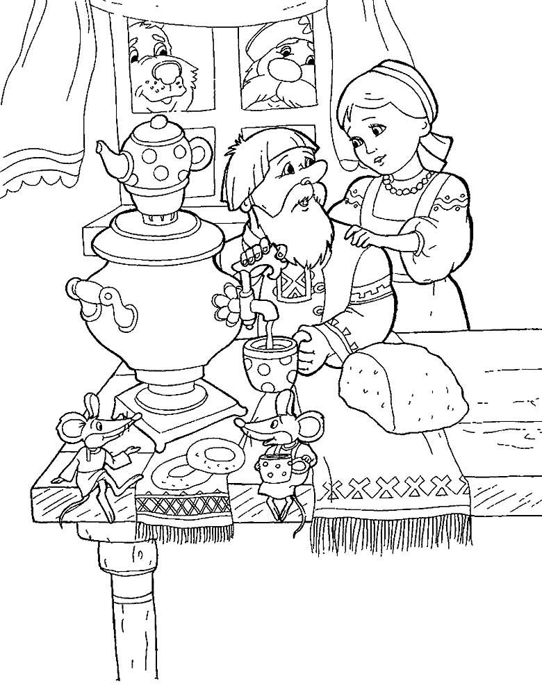 Умная внучка картинки раскраски