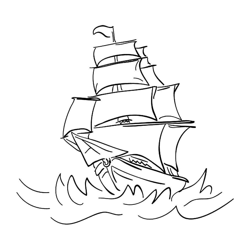 наше трафарет корабль на море на открытку актриса