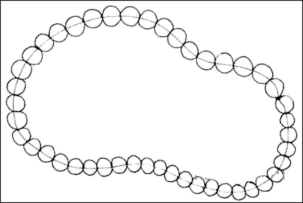 Картинка для детей бусы на нитке