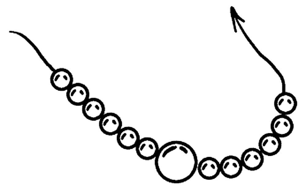 Шаблон картинку бус для доу для рисования в карандаше