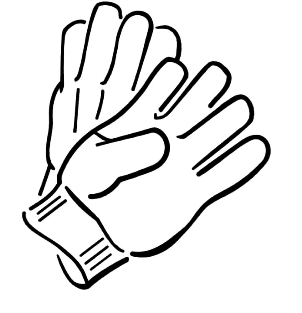 картинка черно белая перчатки словно