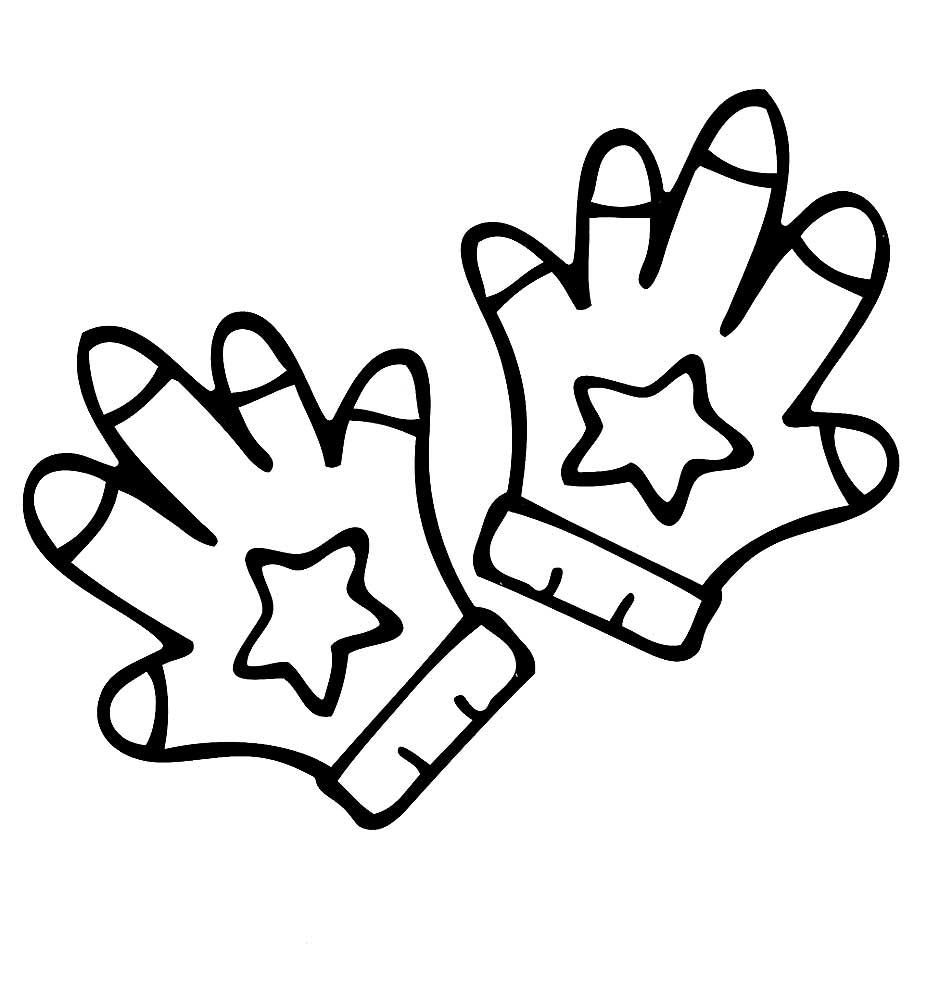 картинка черно белая перчатки нужен для того