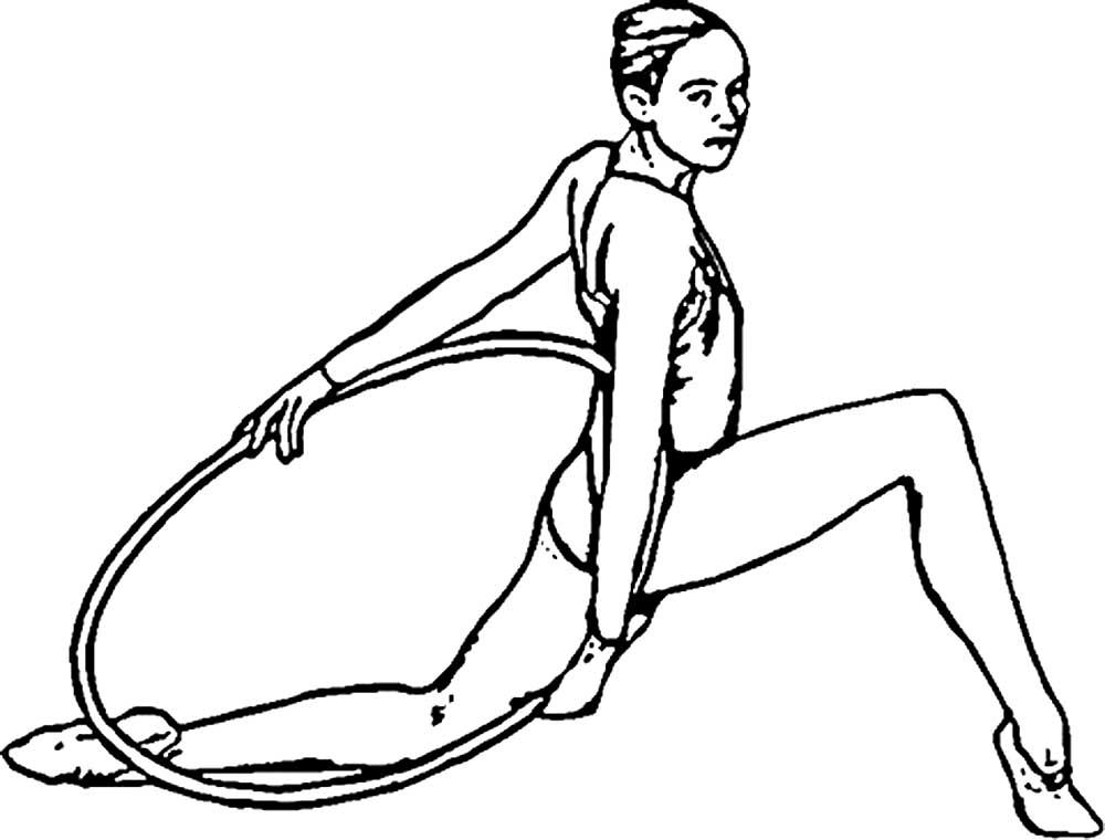 Гимнастика картинки нарисованные распечатать