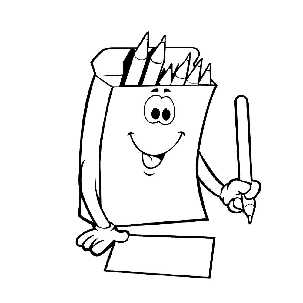Картинка для детей раскраска карандаши