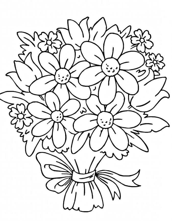 Картинки про, букеты цветов рисунок