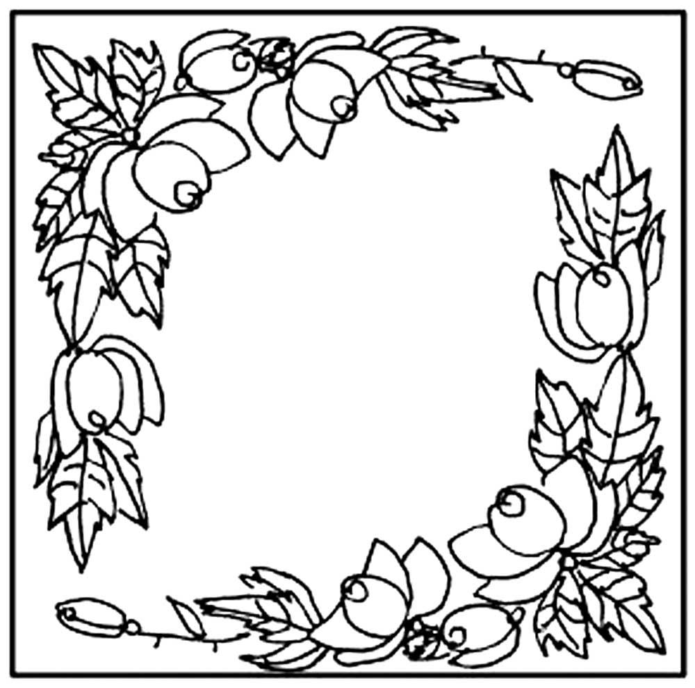 павлопосадский платок раскраска для детей