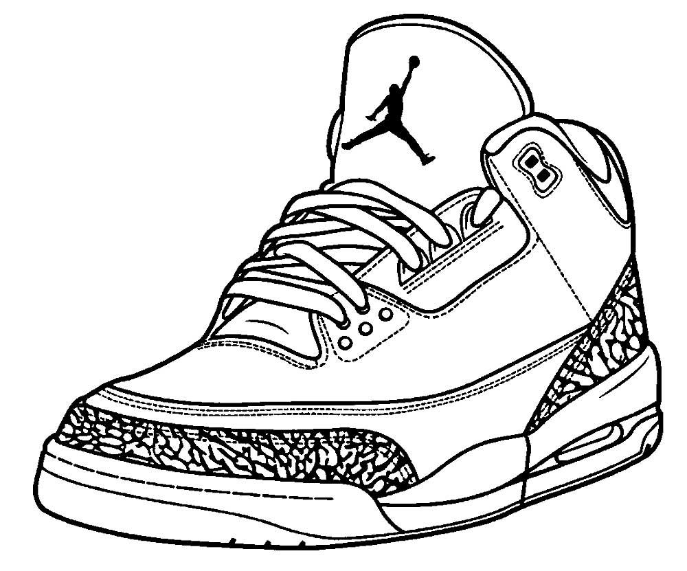 Рисованные картинки кроссовок