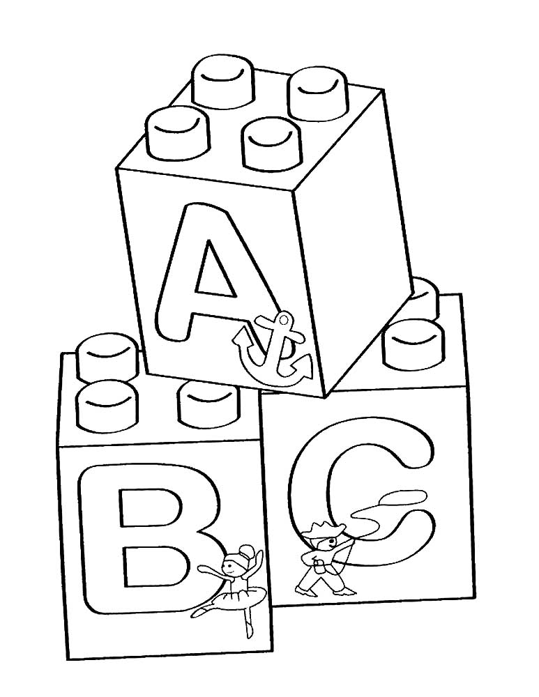 Blocks Clip Art Coloring Pages