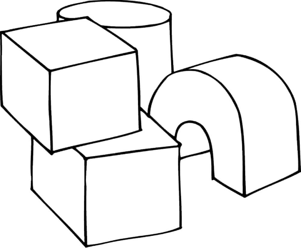 раскраска кубик скачать и распечатать