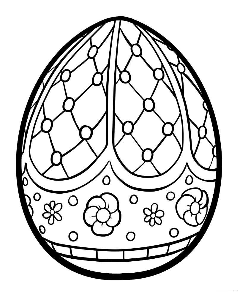 Картинки яйца для детей раскраска