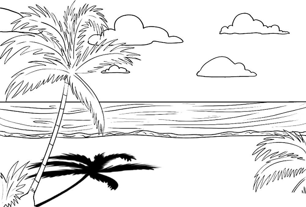 Картинка карандашом лето природа