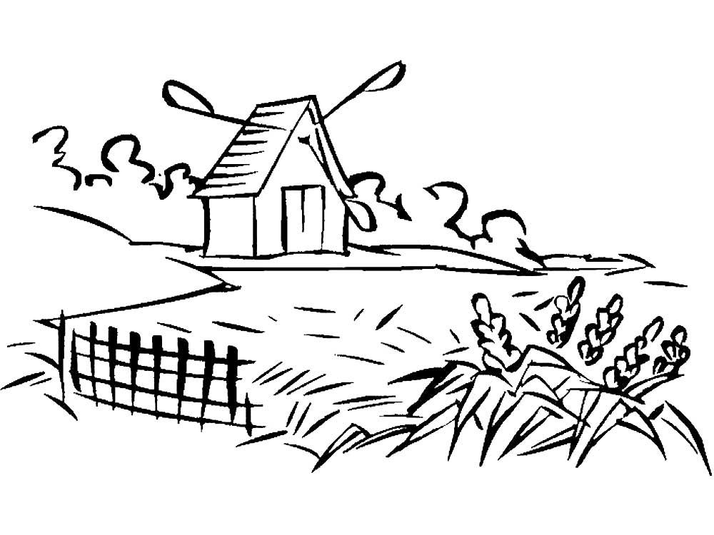 картинки лето в деревне раскраски что невозможно