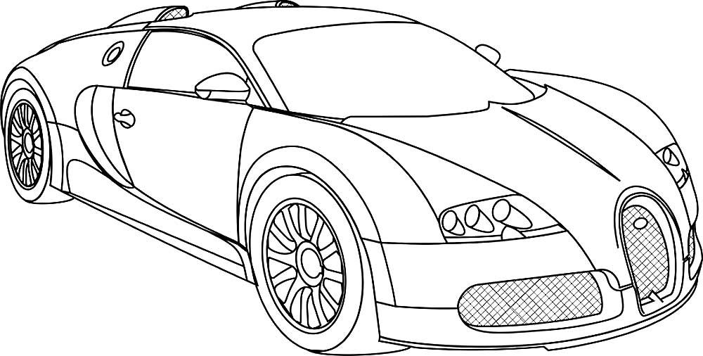 2005 Bugatti Veyron coloring page from Cars category Select from 30832 printable crafts of cartoons nature animals Bible and many more