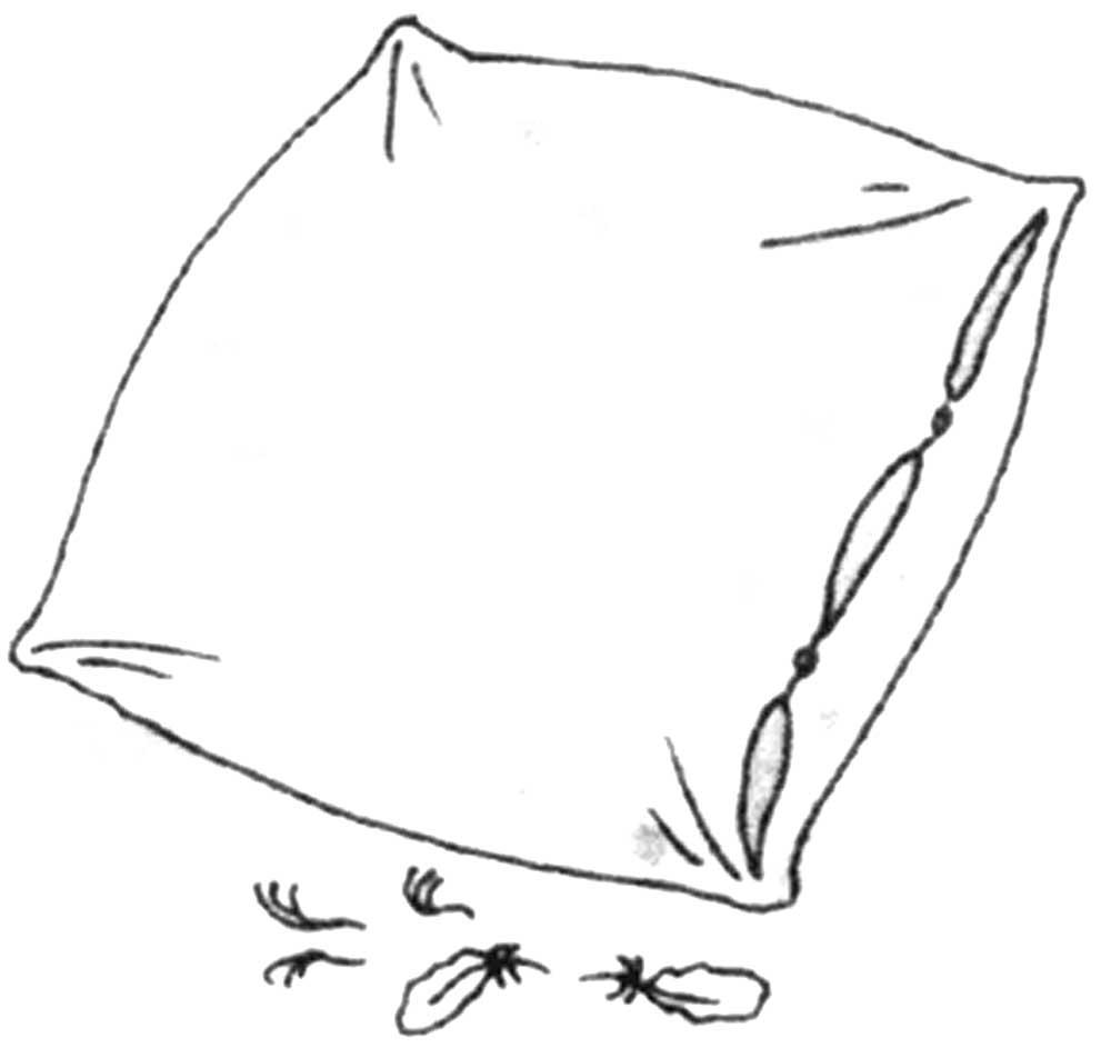 Черно белые картинки подушек