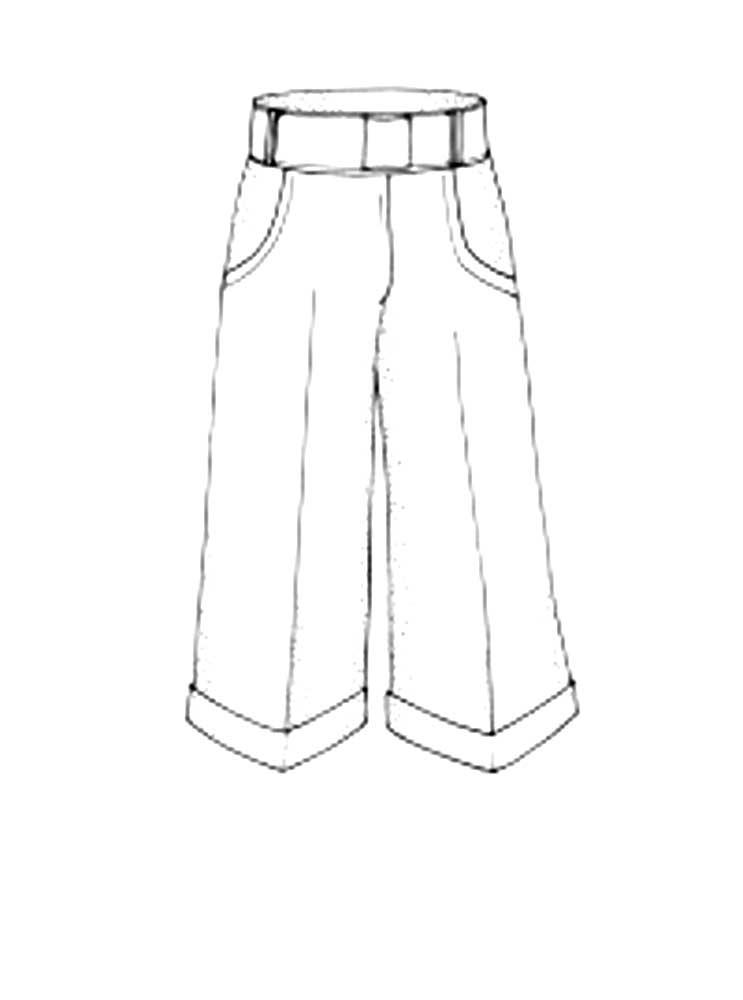 Картинка штаны для детей раскраска