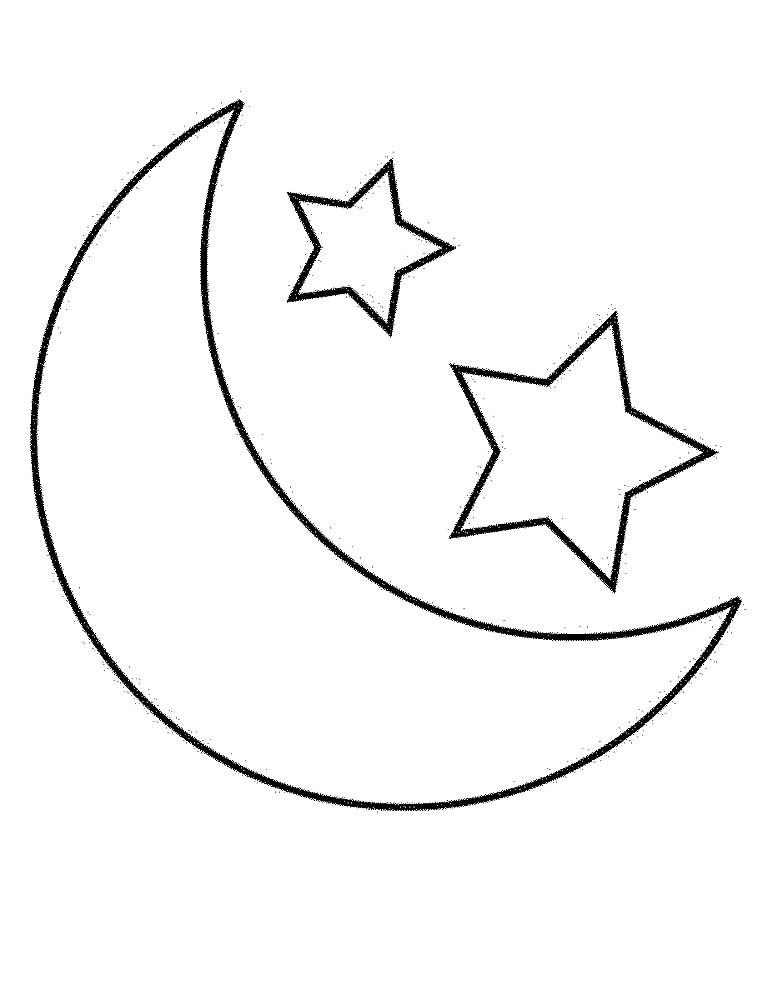 Звезды и луна на окна картинки