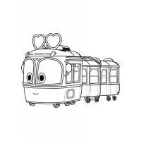Раскраска Роботы поезда скачать и распечатать